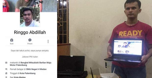 Bertutur Katalah Yang Sopan, Remaja Asal Medan Penghina Jokowi dan Kapolri Resmi Ditangkap sebagai Tersangka