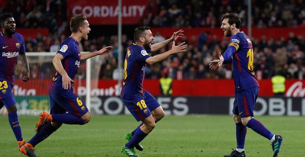Sempat Tertinggal 2 Gol, Barcelona Tahan Imbang Sevilla