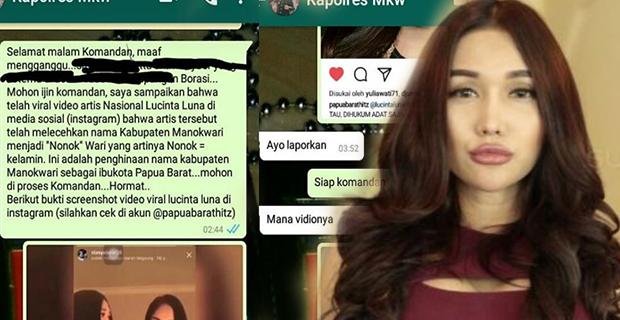 Permohonan Maaf Lucinta Luna Ditolak, Masyarakat Manokwari Murka Dan Tuntut Denda Adat