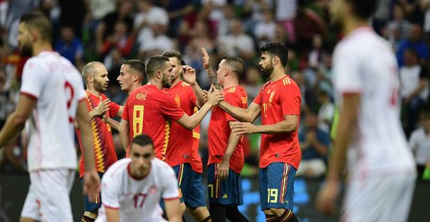 Munculnya Pemain Pengganti, Timnas Spanyol Kalahkan Tunisia 1-0